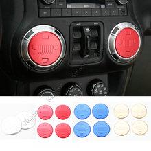 4X красный/синий/золото/серебро спереди Уход за кожей лица автомобиля кондиционер вентиляционное отверстие накладка Стикеры Декор Рамки накладка для Jeep Wrangler 11-17