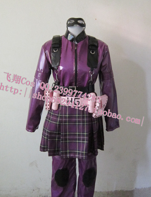 Kick Ass Hit Girl Cosplay Costume font b Suit b font Outfit Hit Girl full set
