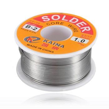 цена на New Welding Iron Wire Reel 100g/3.5oz FLUX 2.0% 1mm 63/37 45FT Tin Lead Line Rosin Core Flux Solder Soldering  Wholesale