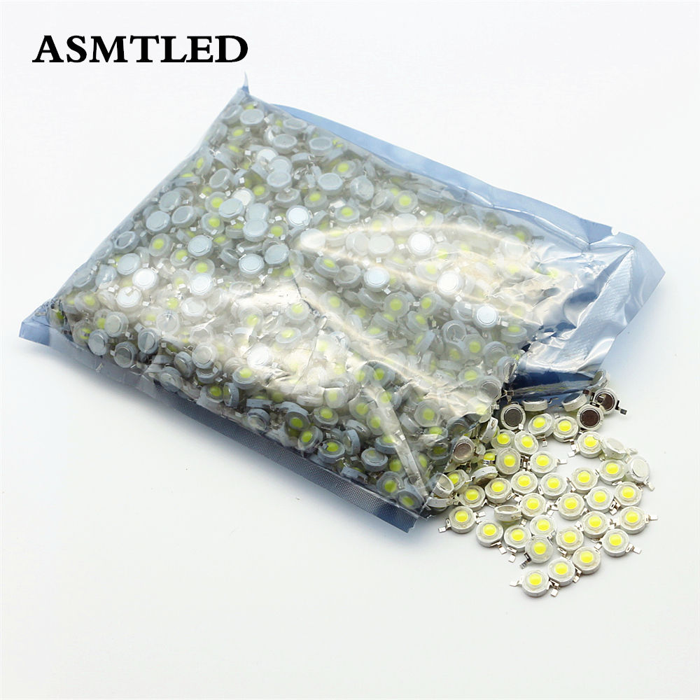 1000Pcs Lot Real Watt 1W 3W SMD Integrated COB LED Lamp Chip For DIY High Power