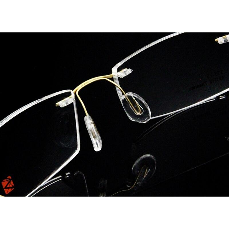 Sorbern Brand New Rimless Pure Titanium Eyeglass Frames for Men Flexible Optical Frame Women Unisex 375 15 in Men 39 s Eyewear Frames from Apparel Accessories