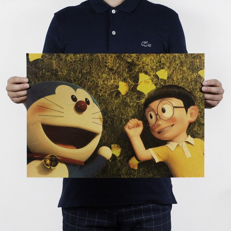 Doraemon STAND BY ME/D Style/classic Cartoon movie Comic/kraft paper/bar poster/Retro Poster/decorative painting 51x35.5cm