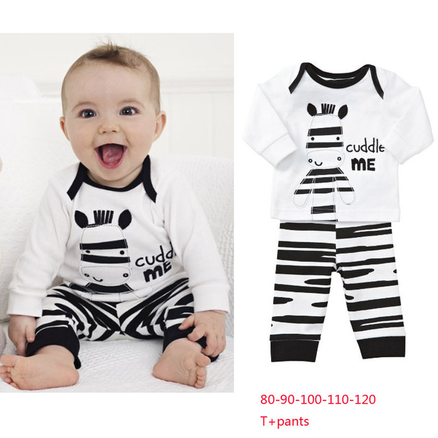 Babykleding 80.New Striped Baby Clothing Set Baby Boys Long Sleeve T Shirt Tops