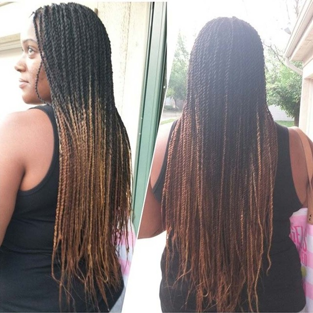 17pc Only Two Tone Ombre Kanekalon Braiding Hair 17inch 1700g/Pc ...