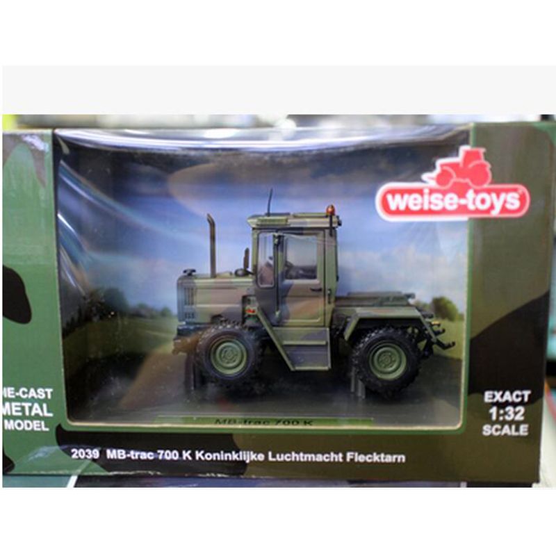 1/32 Scale Diecast Metal MB Camo Tractor Models Engineering Agricultural Car Series Children Toys 2039 MB-Trac700K