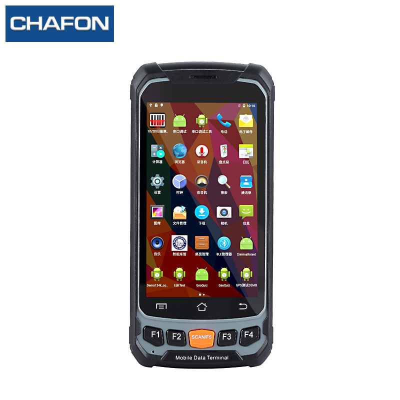 купить CHAFON UHF Android 5.1 Handheld Rfid Terminal Reader Bluetooth 4.7 inch Large Screen Data Terminal 1D 2D Laser Barcode Scanner по цене 31686.16 рублей