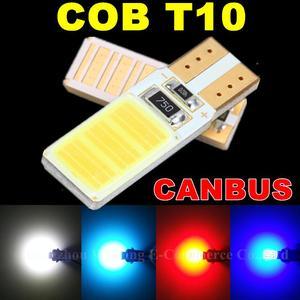 Image 2 - Wljh 1x canbus cob t10 led noエラーw5w ledオートパーキングライトインテリアライセンスプレートsidemarker電球ホワイトブルーled車ライト