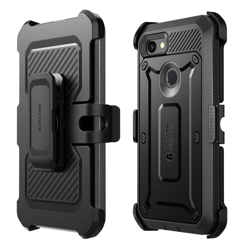 For Google Pixel 3A Case (2019 Release) UB Pro Full-Body Rugged Holster Protective Case With Built-In Screen Protector
