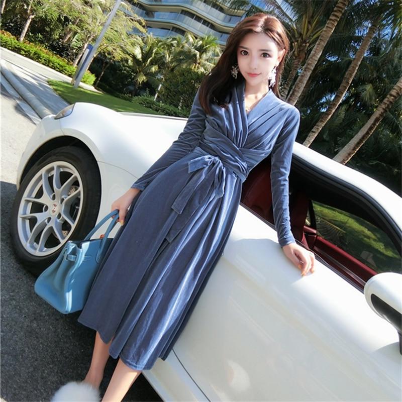 E Perlato Blue V Scollo Dimagrisce Autunno Altalena Lungo Primavera  Dimensioni L  H0032 Velluto Con khaki ... 2bbe80e928b9