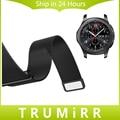 22mm faixa de relógio milanese laço para samsung gear clássico s3/frontier alça de liberação rápida de aço inoxidável fecho magnético pulseira