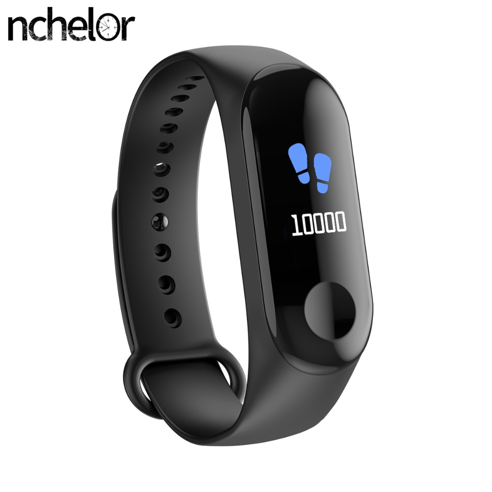 Smart Bracelet Color Screen Blood Pressure Waterproof IP68 Fitness Tracker Heart Rate Monitor Smart Band for Android IOS