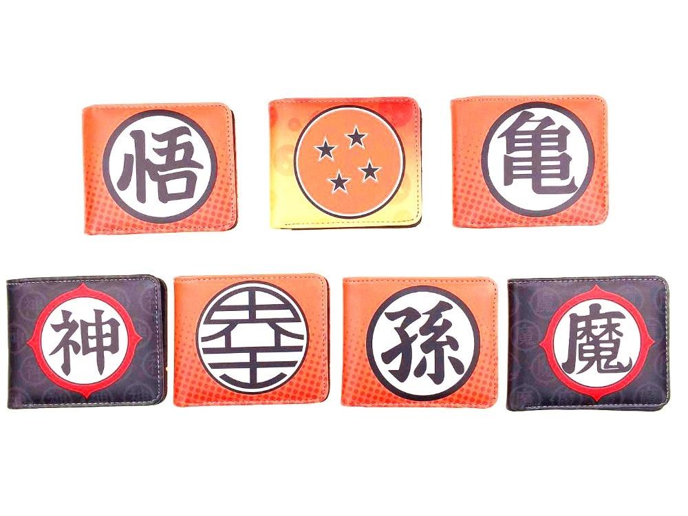 все цены на Anime Coin Purse Dragonball Z Bifold Wallet Cosplay Son Goku Super Saiyan DBZ Short Purse Photo Card Holder Studend Wallets