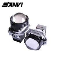 Sanvi 2 шт. 3 дюйма 12 в 5000 К 35 Вт би светодиодный проектор Объектив фара для дальнего ближнего света Автомобильные светодиодные автомобильные пе