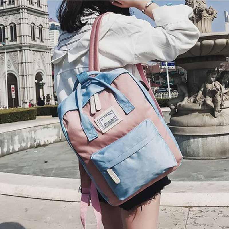HTB1WT9zdjfguuRjSspaq6yXVXXaK Yogodlns Campus Women Backpack School Bag for Teenagers College Canvas Female Bagpack 15inch Laptop Back Packs Bolsas Mochila