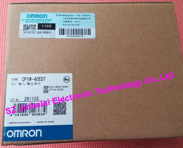 CP1W-40EDT OMRON Authentic original PLC CONTROLLER I/O UNIT original authentic pressure pwitch sde5 d10 o q6e p k