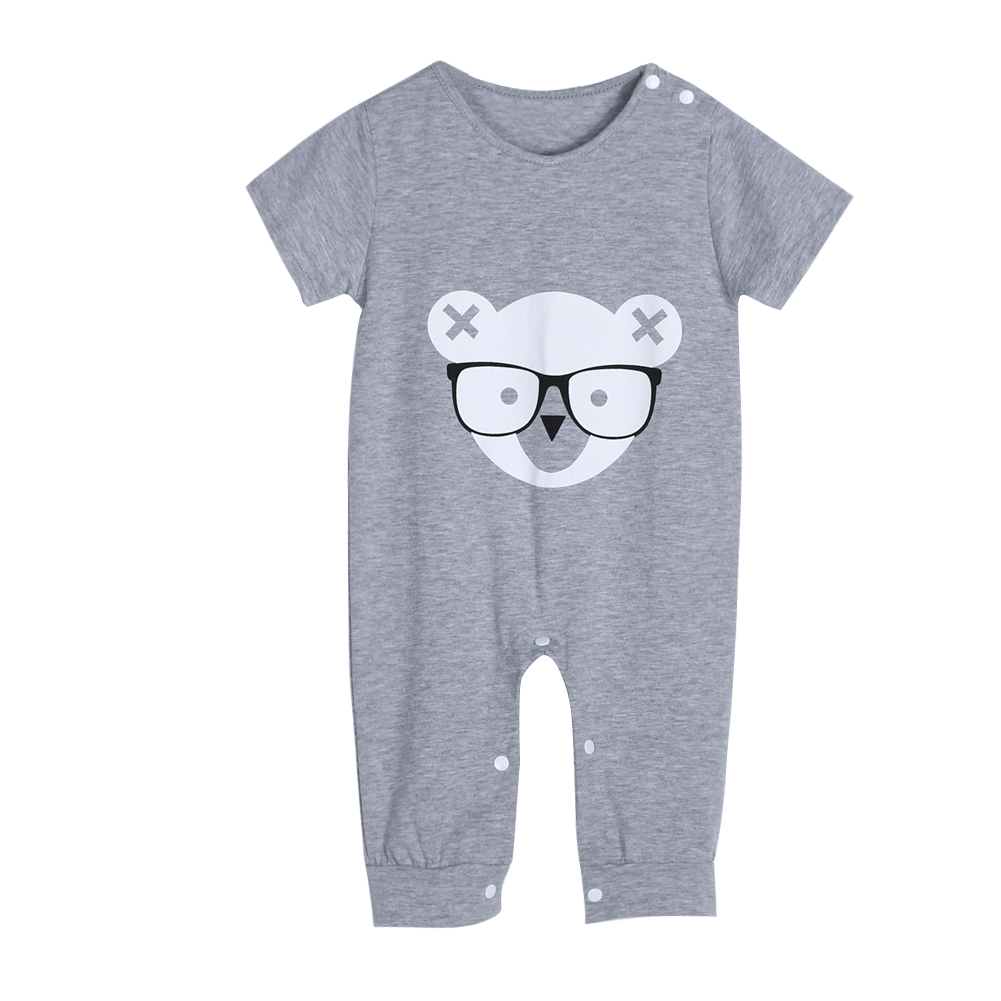 Baby Boy Girl Clothes Baby Cotton Romper Newborn Toddler Cartoon Bear Print Rompers Short Sleeve Jumpsuit Outfits newborn baby rompers baby clothing 100% cotton infant jumpsuit ropa bebe long sleeve girl boys rompers costumes baby romper