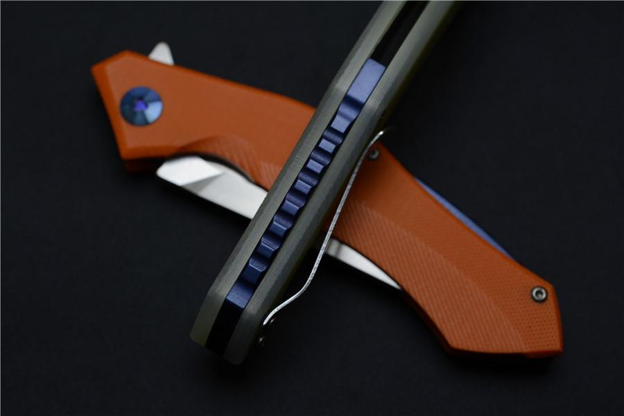 Купить Зеленый шип D2 стеклоочистителя G10 ручка синяя луна ятаган открытый кемпинг многоцелевой EDC инструмент дешево