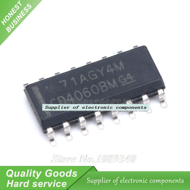 US $1 14 |10PCS CD4060 CD4060BM SOP 16 CD Digital IC Logic Binary Counter  New Original Free Shipping-in Integrated Circuits from Electronic  Components