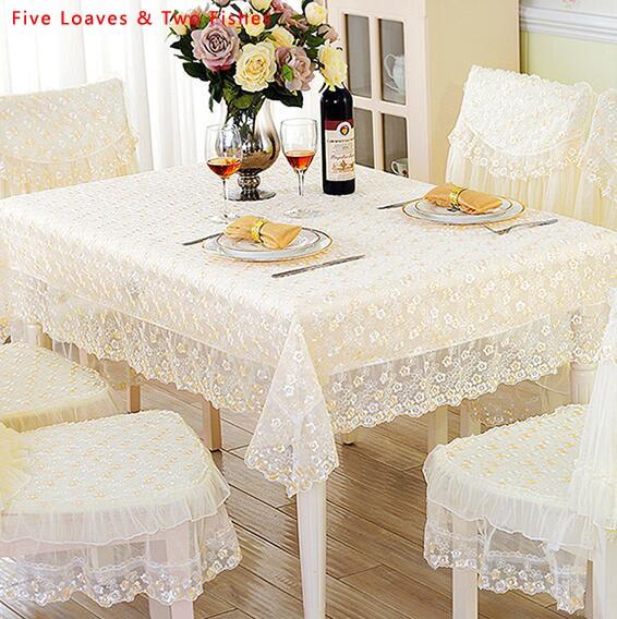 Venta caliente encaje mantel flor bordado manteles mantel - Manteles mesa rectangular ...