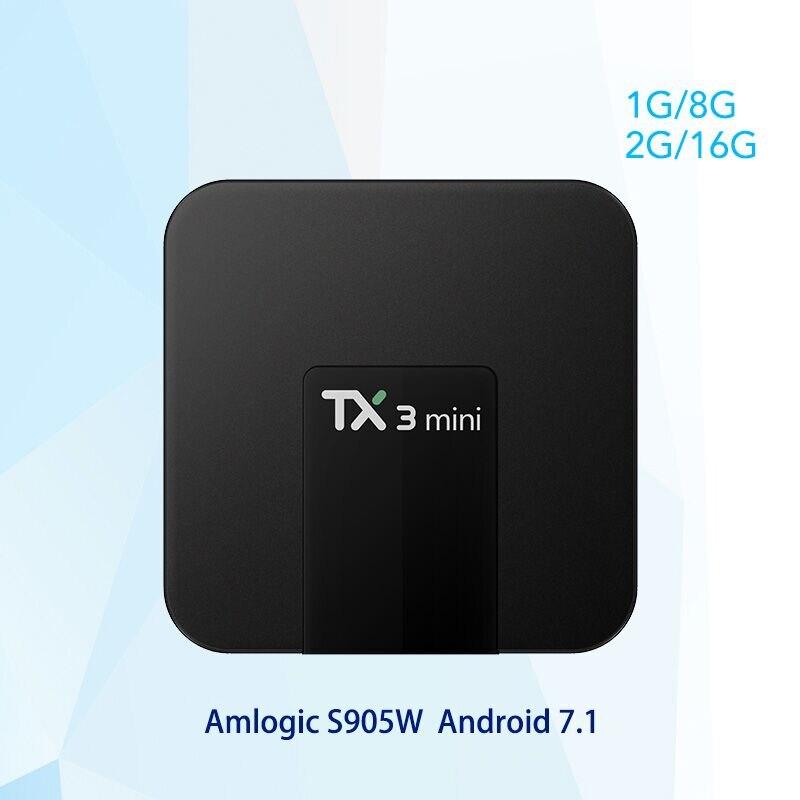 Tanix TX3 Mini Android 7.1 TV BOX 2GB 16GB Amlogic S905W Quad Core Smart TV Box 4K HDMI 2.4GHz WiFi Media Player PK X96 tx2