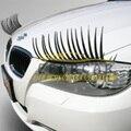 1 Par/2 Pcs 3D Encantador Bonito Da Etiqueta Do Carro Styling adesivos Eye Lash Cílios para Faróis Do Carro Lâmpada Luzes de Decoração decalques