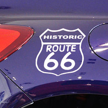 15cm*15cm 10 Colors Historic Route Lucky 66 Character Car Styling Sticker Motorcycles Vinyl Window Decal Accessories