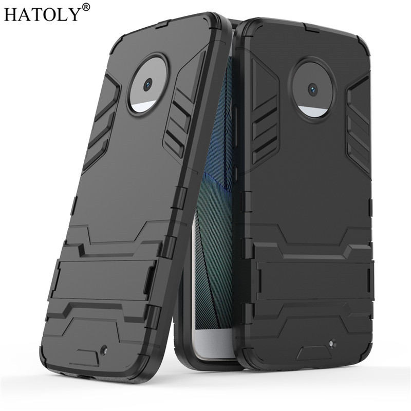 HATOLY For Armor Case Motorola Moto X4 Case Shockproof Robot Silicone Rubber Hard Back Phone Cover For Motorola Moto X4