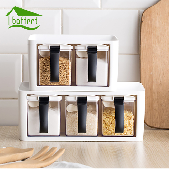 Nordic Style New Storage Seasoning Boxes Spice Jar bottle With