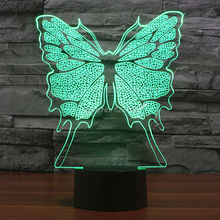 Multi Color Changing Flashing Butterfly Acrylic 3D LED Night Light USB LED Decorative Table Lamp Baby Sleep LED Mood Lamp multi color usb glitter decorative mood lamp