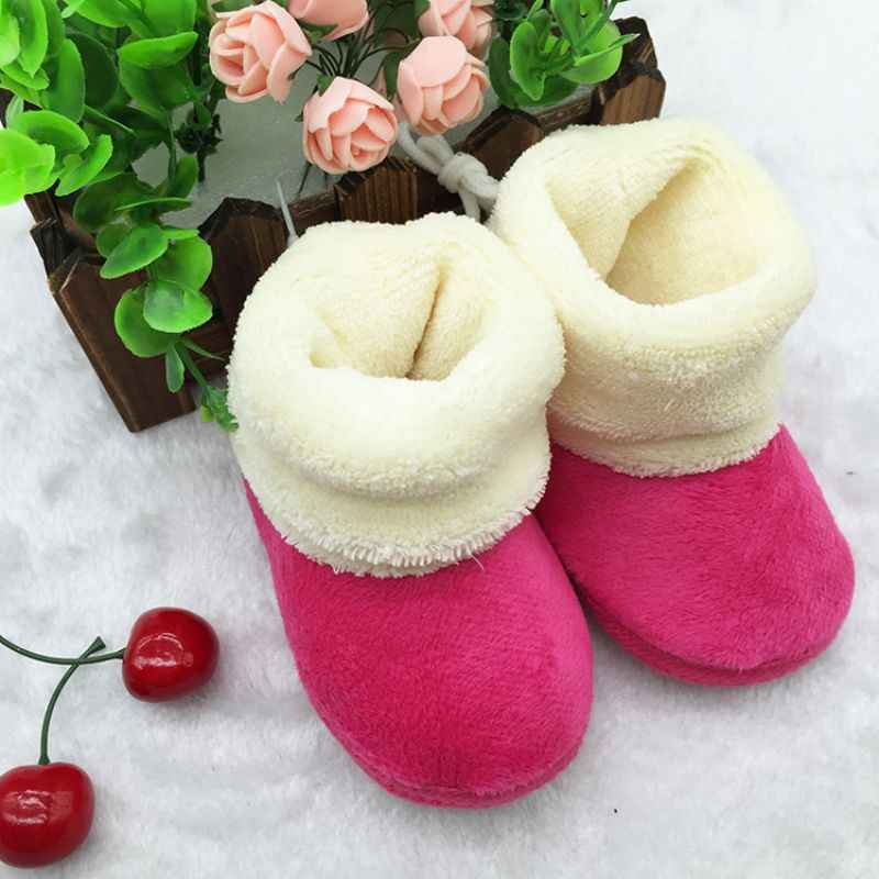Winter Warm Newborn Baby Baby Prewalker Shoes Infant Toddler Soft Soled First Walker Shoes