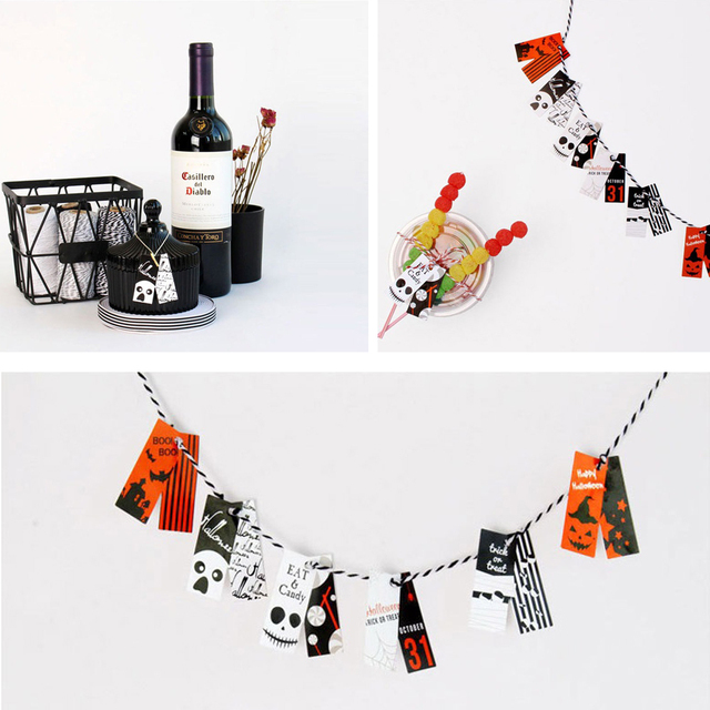 the nightmare before christmas halloween 120pcs paper labels packaging party gift decoration tags scrapbooking diy