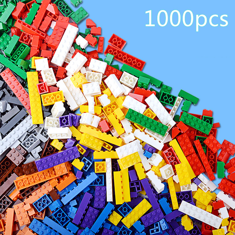 1000pcs Basic Classic Small Blocks 14 Shapes Educational Creative DIY Kids Girl Boy Toys Compatible with legoend Building Bricks new big size 40 40cm blocks diy baseplate 50 50 dots diy small bricks building blocks base plate green grey blue
