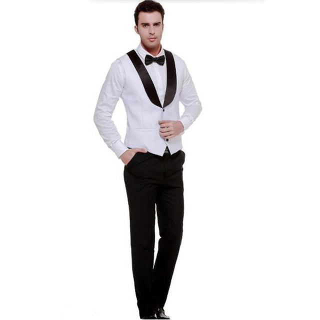 Formal White color Men's Waistcoat New Arrival Fashion Groom Vests Casual Vest Custom Made hot sell new style