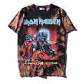 High quality 2017 new style spring summer male band clothing 100% cotton T shirt Iron Maiden devil print men hip hop T-shirt
