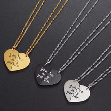 Couple Half Heart Pendant Necklace