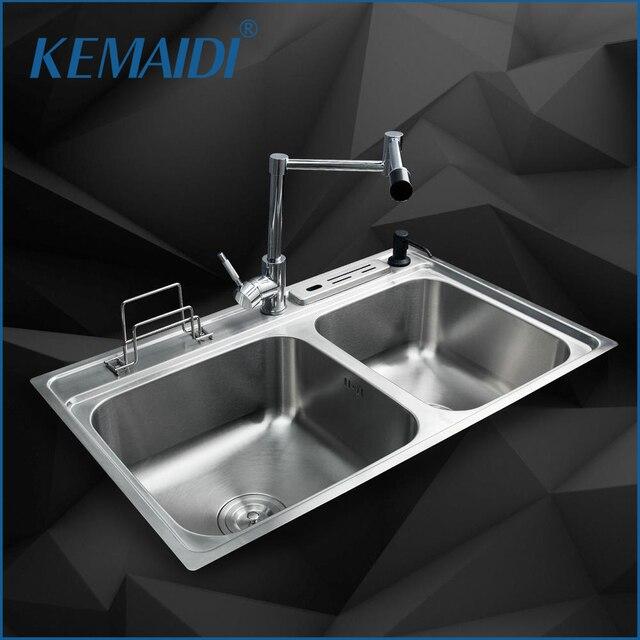 Kemaidi Modern Kitchen Sink Faucet Bowl Kitchen Washing Vegetable