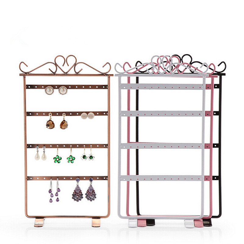 New Iron Earring Holder 48 Holes Multifunction Earrings Stand ...