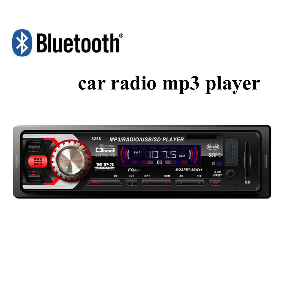 ФОТО new 12V Car radio Stereo FM MP3 Audio Player built in Bluetooth Phone with USB SD Port Car radios In-Dash 1 DIN size bluetooth