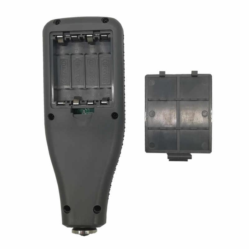 1pc Yunomb zakres 0-1300um samochodowy miernik grubości lakieru Film tester grubości miernik grubości lakieru z angielskim rosyjski instrukcja