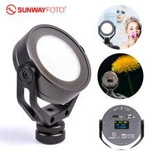 Sunwayfoto câmera FL 54 led, lâmpada de estúdio fotográfico, iluminação para fotografia, youtube, luzes fotográficas, uso externo