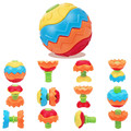 Newest Transformation Fitness Ball Baby Educational Building Toys Magic Cubes Brinquedos Education Puzzles Ball for Children