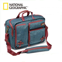 National Geographic Leather Professional Camera Bag Multi Functional Backpack Travel Photography Carry Bag For DSLR Mini Tripod