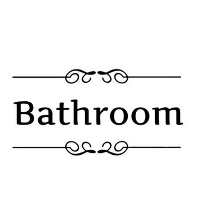 % bathroom rules door sign vinyl quotes lettering words wall stickers bathroom toilet washroom decoration home decor decal art