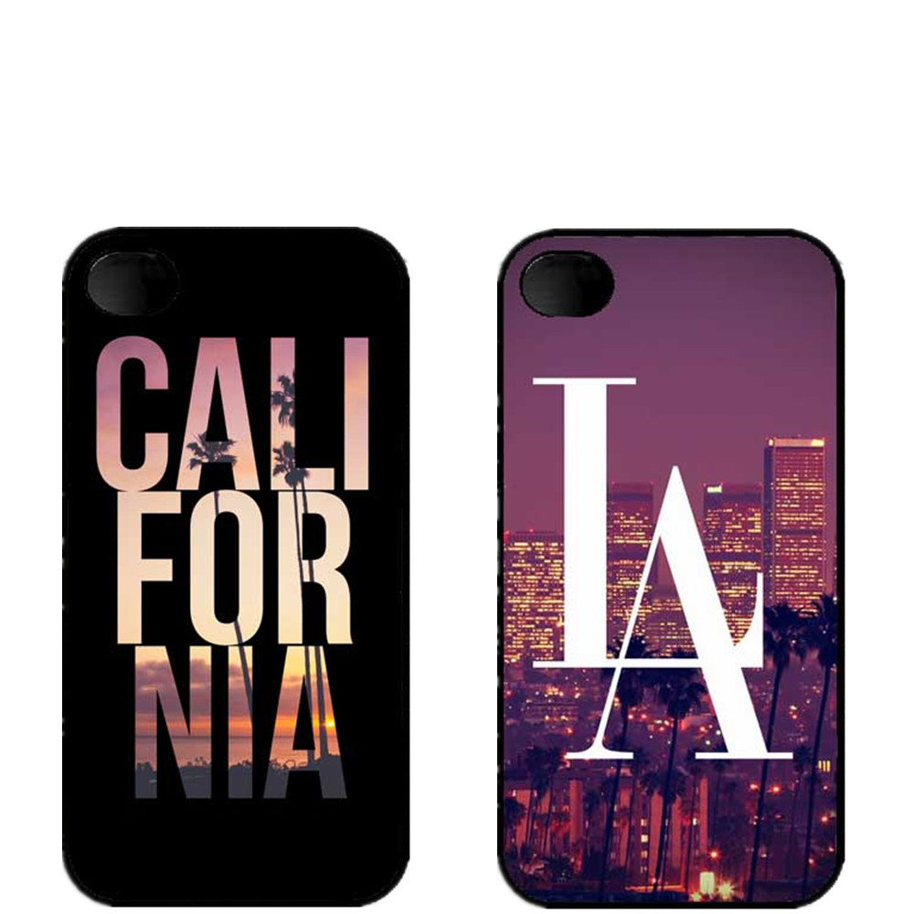 New York city LA California Slim Cool Design HardCover Plastic Protective Cover Case For iPhone SE 4 4S 5 5S 5C 6 6S 6Plus