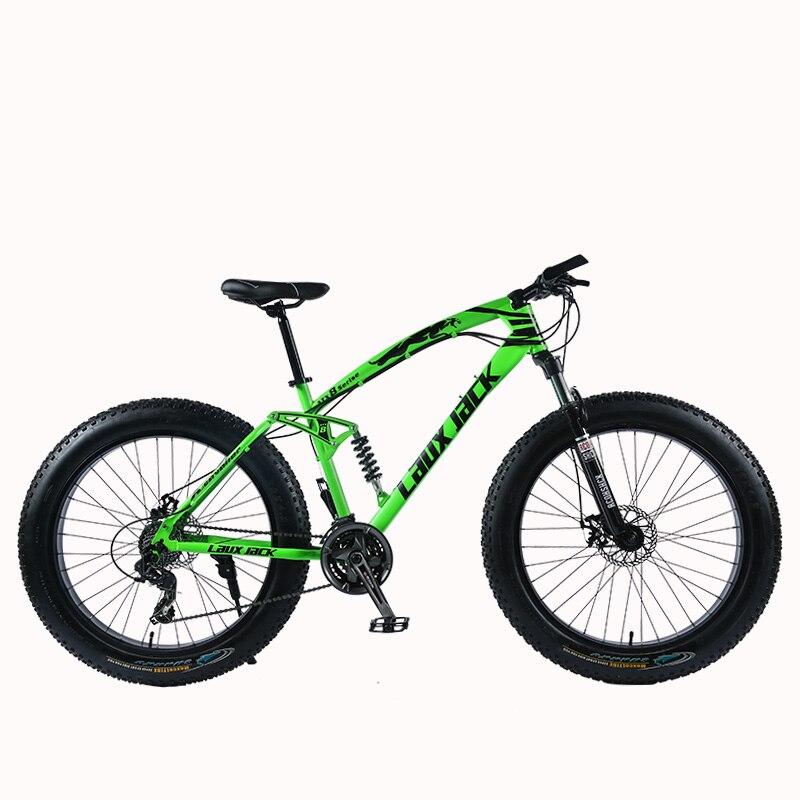 "HTB1WTC7ltcnBKNjSZR0q6AFqFXa1 LAUXJACK Mountain Fat Bike 26"" Wheels SHIMANO 24 Speed Full Suspended Frame"