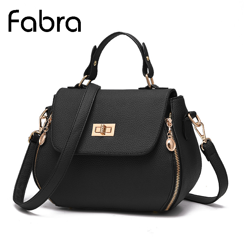 Fabra New Vintage Handbag PU Leather Women Messenger Shoulder Bag Zipper Bags Small Fashion Rivet Crossbody Shell Bag Hot Sell fabra women cute cartoon pu leather