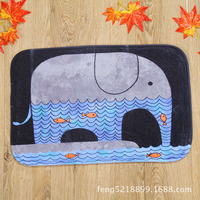 Latest Design Elephant Playing In The Water In Front Of Home Bedroom Carpet Slip Mats
