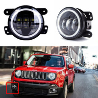 2PCS Pair For Jeep Fog Light 4 Inch 30W LED Bulb For Jeep Dodge Harley Daymaker