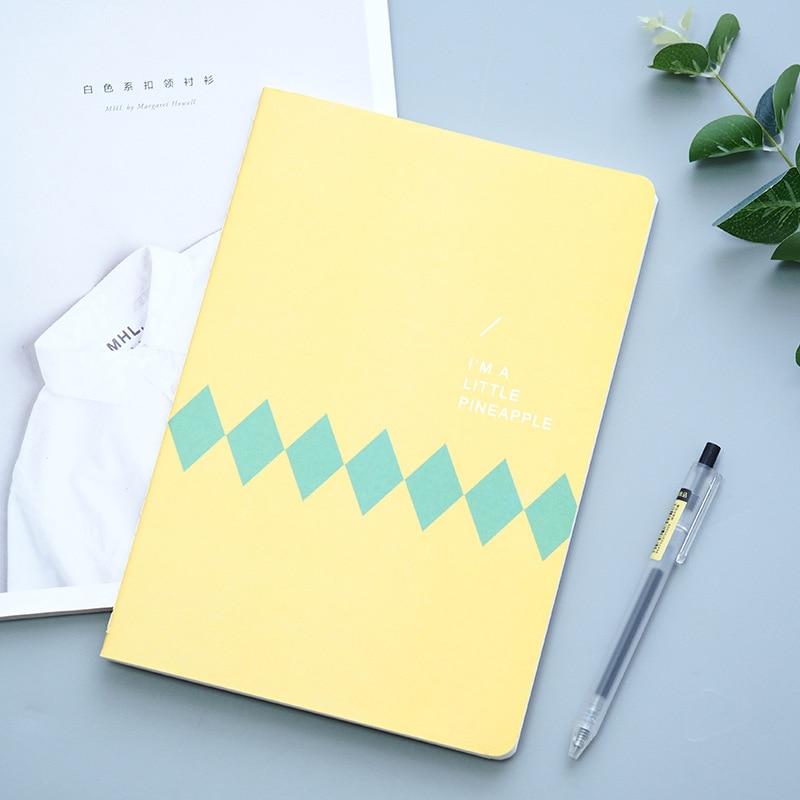 Yellow Pineapple Notebook Cartoon Cute Journal Diary Planner Notepad  3