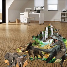 3D Wall Sticker PVC Waterproof Living Room Bedroom Floor Removable DIY Home Decoration